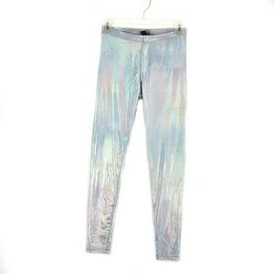 Sz S Forever 21 High-Waisted Holographic Leggings